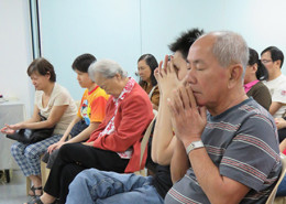 Prayer during GMB English Fellowship