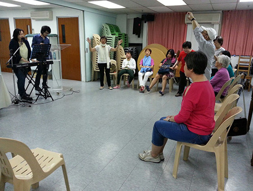 Praise and Worship at GMB English Fellowship